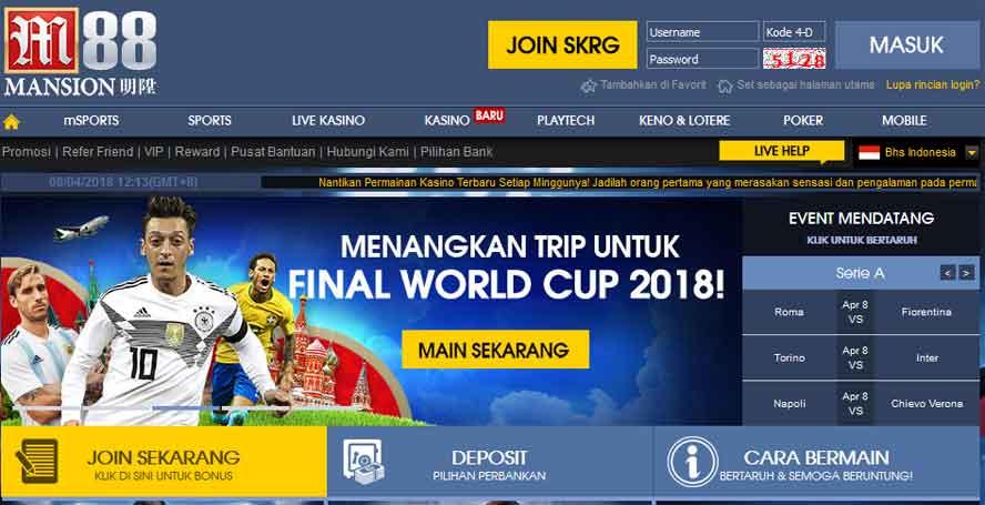 M88 situs judi online Asia Indonesia